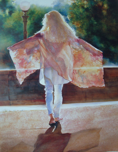 Flying the Sun  Lithographic print by Karen Vernon  28 x 22