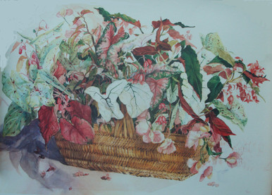 Hope's Basket Offset Lithograph from original painting by Karen Vernon 16 x 20
