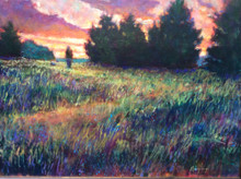 """Morning Walk  An original acrylic landscape painting by Ken Muenzenmayer  Picture Image Size:  16"""" x 20""""  Made in Texas USA  Ships in USA only  Ships insured"""