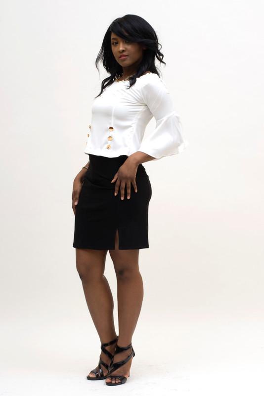 BePear Mini Pencil Skirt - Black