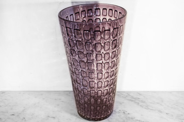 SOLD - Venetian Glass Vase with Controlled Rectangle Bubbles, 1970s