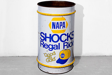 SOLD - Vintage Napa Auto Parts Oil Drum, circa 1970