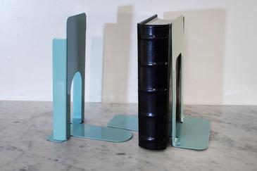 SOLD - Vintage Steel Book Ends in Tiffany Blue