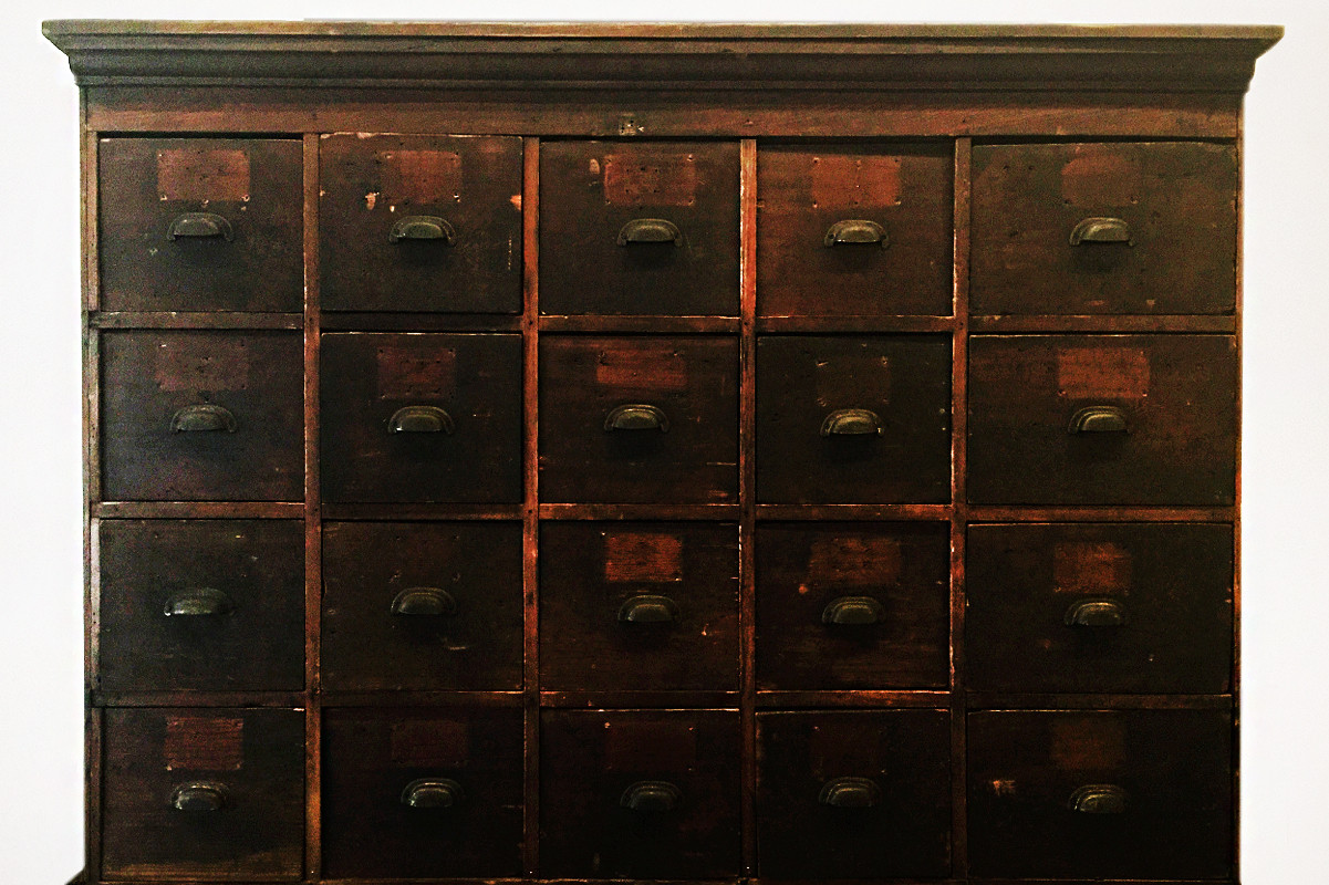 Large Antique Multi Drawer Storage Cabinet C 1890s