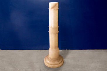 SOLD - Italian Alabaster Pedestal Column, 1960s