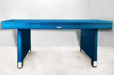 SOLD - Rare Yawman and Erbe Panel Leg Table, Refurbished