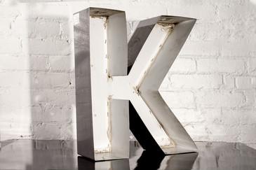 """SOLD - VINTAGE CHANNEL LETTER """"K"""""""