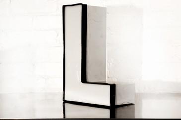 "SOLD - Vintage Channel Letter ""L"" in White"