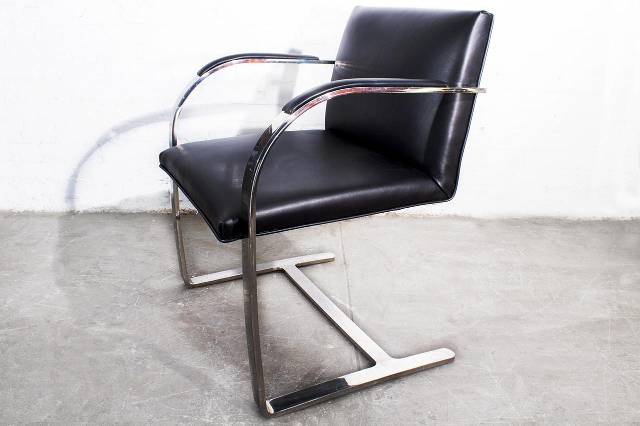van der rohe furniture. SOLD - Brno Flat Bar Arm Chair By Mies Van Der Rohe Rohe Furniture