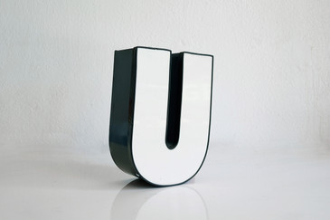 """SOLD - Vintage Industrial Channel Signage Letter """"U"""""""