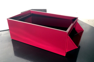 SOLD - 1940s Industrial Storage Bin, Refinished in Red