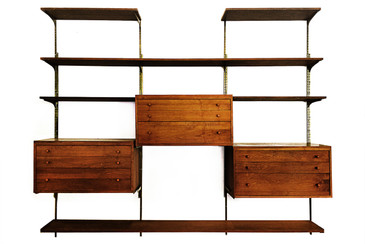 SOLD - Mid Century Modern Modular Wall Unit