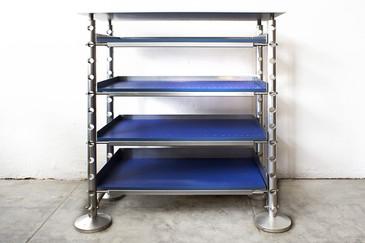 Retrofuturism Aluminum Display Shelf