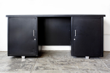 SOLD - 1960s Tanker-Style Knee Space Credenza