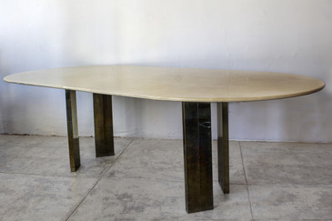 SOLD - Karl Springer Lacquer Table on Custom Base