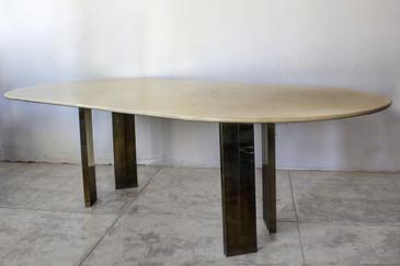 SOLD - Karl Springer Lacquer Table on Custom Base