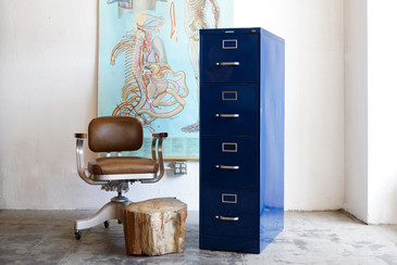 1960s Steelcase Vertical Filing Cabinet, Refinished - CUSTOM ORDER