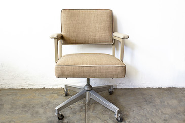Pair of 1970s Steelcase Office Chairs, Refinished