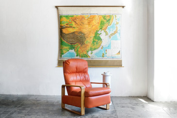 SOLD - Vintage Pull Down Map of East Asia, 1960s