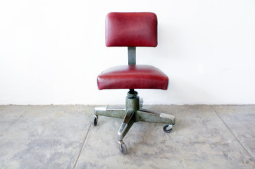 SOLD - 1960s Office Task Chair, Reupholstered
