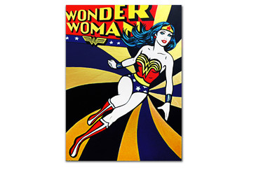 "SOLD - ""Wonder Woman"" Original Painting by Hatti Hoodsveld"