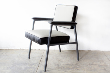 SOLD - 1970s, Steel Case Armchair, Refinished in Knoll Chroma Fabric