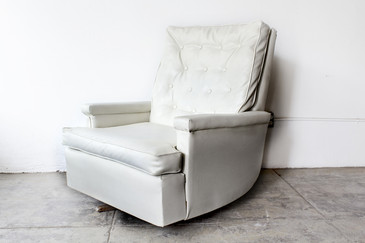 SOLD - 1970s Tufted Recliner Lounge Chair