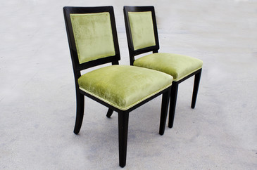 Pair of 1940s Dunbar Dining Chairs, Refinished