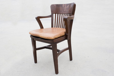 1940s Oak Lawyer's Chair, Refinished