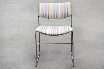 SOLD - 1970s Minimalist Chrome Side Chair