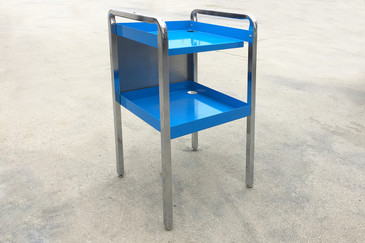 1960 Retro Stainless Steel Cart, Refinished