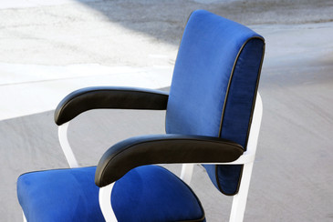 General Fireproofing Aluminum Tanker Armchair, Refinished
