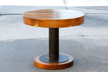 Walnut Slab and Steel Side Table by Rehab Vintage Interiors - CUSTOM ORDER