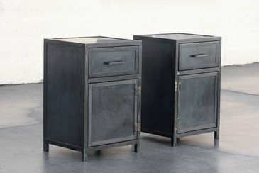 Steel Nightstand Cabinets by Rehab Vintage Interiors - CUSTOM ORDER