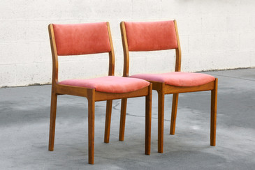 Pair of Danish Modern Teak Dining Chairs
