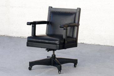 SOLD - Deco Era Executive Chair in Black