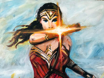 """Warrior"" Wonder Women Pop Art Painting by Hatti Hoodsveld"
