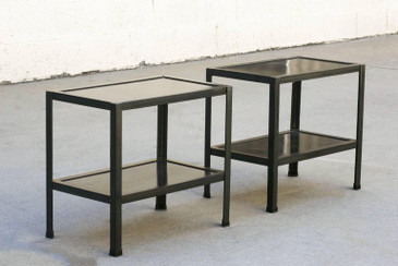 Pair of Custom Patinated Steel Side Tables