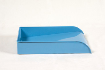 Vintage Steel Letter Tray Refinished in Baby Blue
