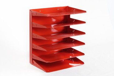 SOLD - Retro Mail Organizer Refinished in Red / Free U.S. Shipping