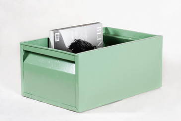 1940s Industrial Storage Bin, Refinished in Sage Green
