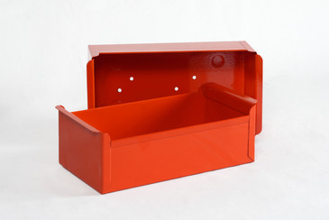 1950s Card File Drawers Refinished in Red