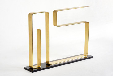 "Dan Murphy Modernist Brass Sculpture, ""Neon,"" 1976"