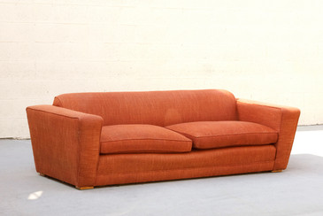 Pauk Frankl Art Deco Club Sofa, Original 1940s