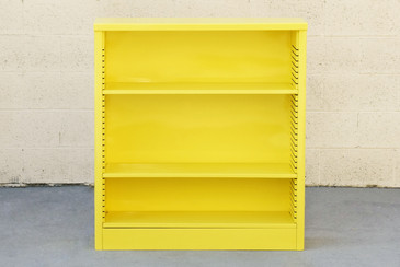 1960s Steel Bookcase in Yellow, IN STOCK