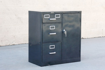 1960s Safe Cabinet by Borroughs, Refinished