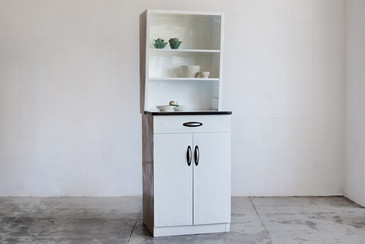 SOLD - 1950s Metal Kitchen Cabinet Unit, Refinished