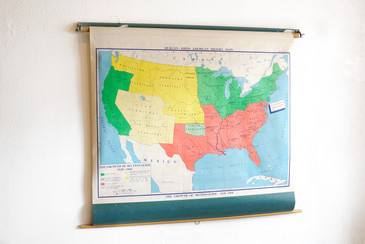 SOLD - Vintage Pull-Down Map: Growth of Sectionalism 1820 - 186