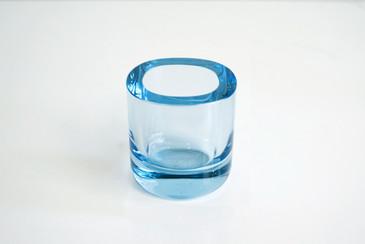 SOLD - Holmegaard Glass Vase, 1950s Danish Vintage