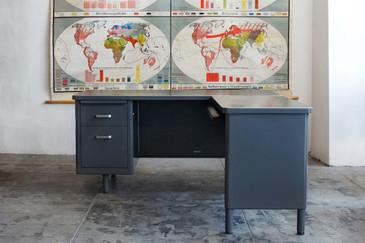 SOLD - McDowell Craig Tanker Desk with Return